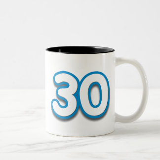 30 Year Birthday or Anniversary Sim Font Mug