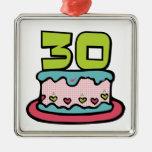 30 Year Old Birthday Cake Christmas Tree Ornaments