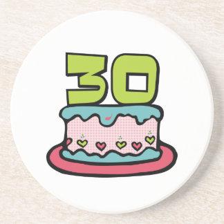 30 Year Old Birthday Cake Coaster