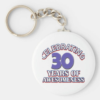 30 year old birthday designs and gifts basic round button keychain