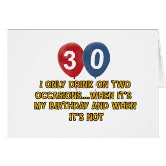 30 year old birthday designs card