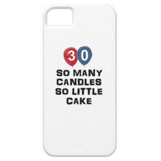 30 year old candle designs iPhone SE/5/5s case