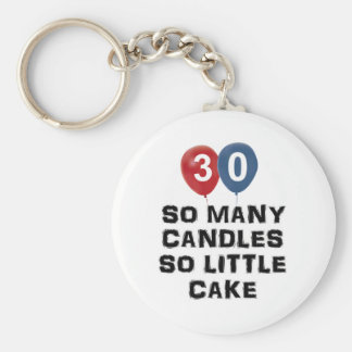 30 year old candle designs basic round button keychain