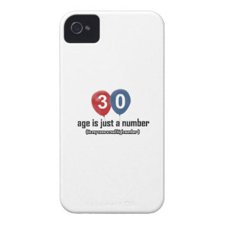 30 year old nothing but a number designs Case-Mate iPhone 4 cases