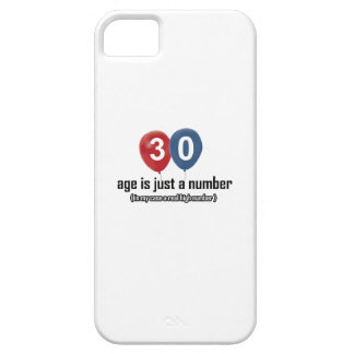 30 year old nothing but a number designs iPhone SE/5/5s case