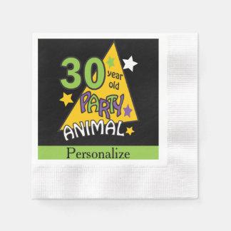30 Year Old Party Animal - 30th Birthday Napkin