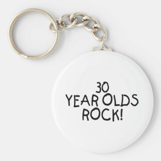 30 Year Olds Rock Keychain