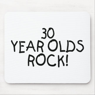 30 Year Olds Rock Mouse Pad