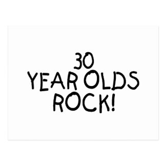 30 Year Olds Rock Postcard