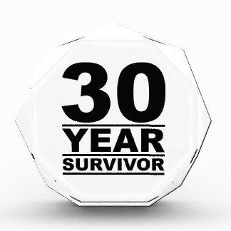 30 year survivor acrylic award