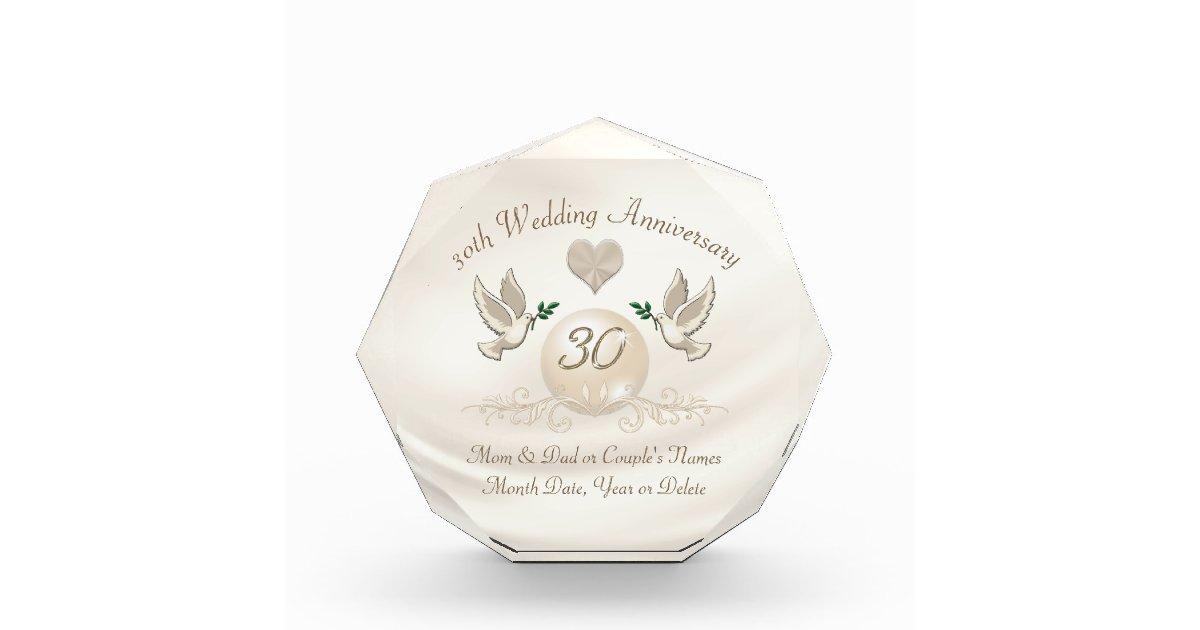 30 Wedding Anniversary Gift Ideas: 30 Year Wedding Anniversary Gift For Parents