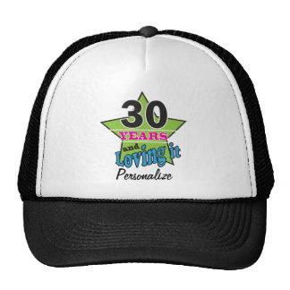 30 Years and Loving it | 30th Birthday DIY Name Trucker Hat