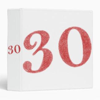 30 years anniversary 3 ring binder
