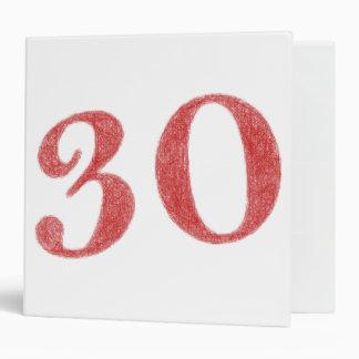 30 years anniversary binder