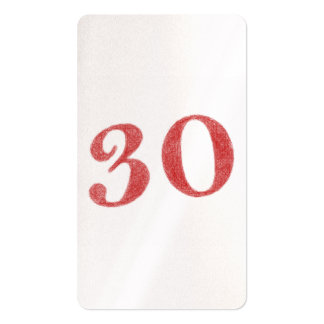 30 years anniversary business card