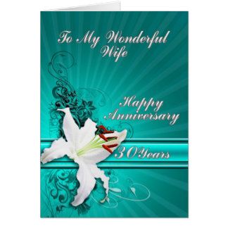 30 years Anniversary card for a wife
