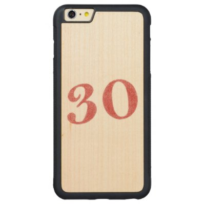 30 years anniversary carved® maple iPhone 6 plus bumper case