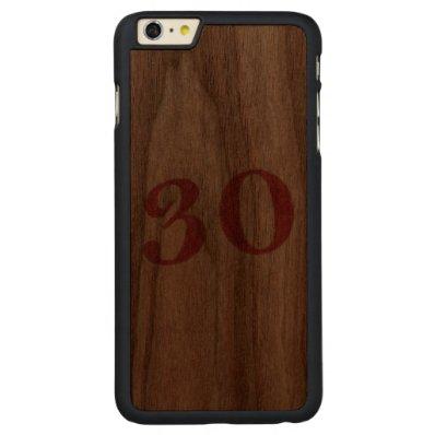 30 years anniversary carved® walnut iPhone 6 plus slim case