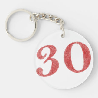 30 years anniversary keychain