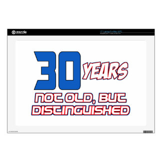 "30 YEARS OLD BIRTHDAY DESIGNS 17"" LAPTOP SKIN"