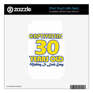 30 YEARS OLD BIRTHDAY DESIGNS DECAL FOR iPod TOUCH 4G