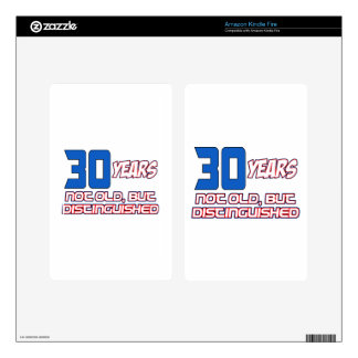 30 YEARS OLD BIRTHDAY DESIGNS DECAL FOR KINDLE FIRE