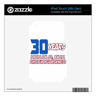 30 YEARS OLD BIRTHDAY DESIGNS DECALS FOR iPod TOUCH 4G