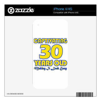 30 YEARS OLD BIRTHDAY DESIGNS iPhone 4 DECAL