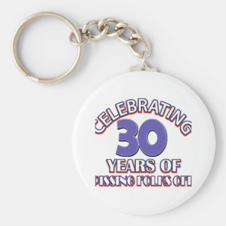 30 years Old birthday designs Key Chain