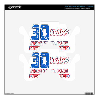 30 YEARS OLD BIRTHDAY DESIGNS PS3 CONTROLLER DECAL
