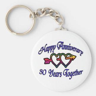 30 Years Together Keychain