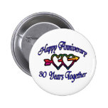 30 Years Together Pinback Button