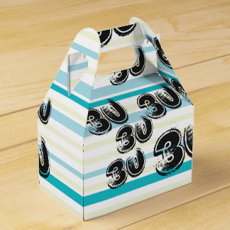 30 yr Bday - 30th Birthday Party Favor Boxes
