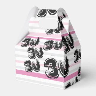 30 yr Bday Pink - 30th Birthday Party Favor Box
