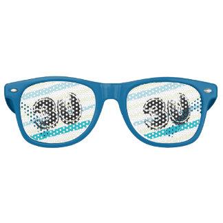 30 yr Bday Striped 30th Birthday Sunglasses