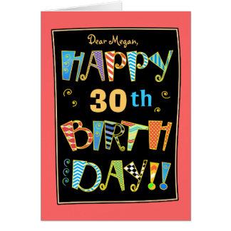 30a tarjeta Cumpleaños-Divertida feliz caprichosa