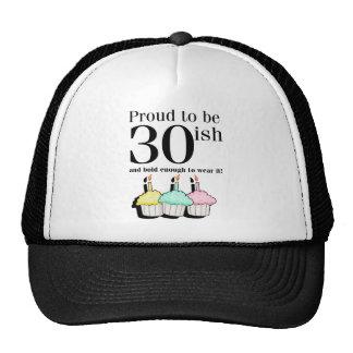 30ish Birthday Mesh Hats