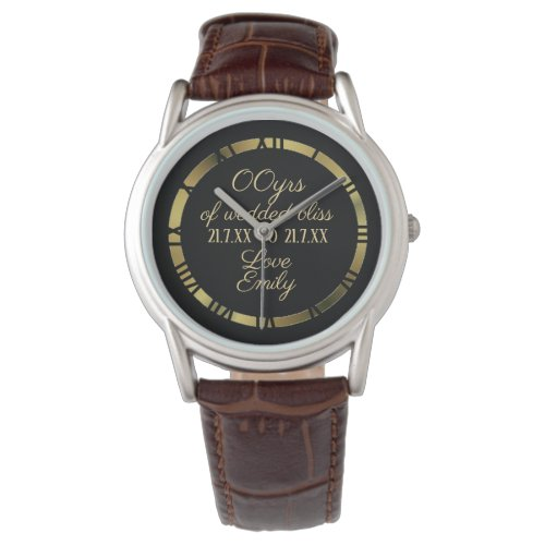 30th 35th 40th 45th Wedding Anniversary Husband 2 Wristwatch