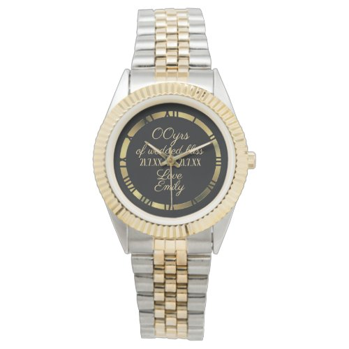 30th 35th 40th 45th Wedding Anniversary Husband Wristwatch