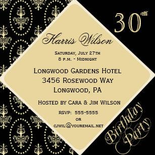 39th Birthday Invitations Zazzle