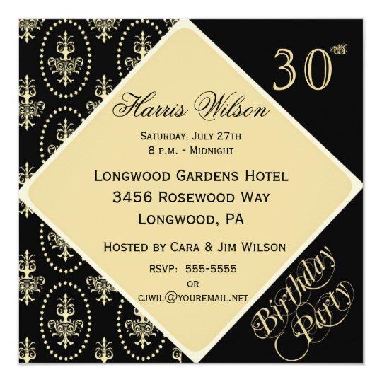 30th 39th Birthday Invitations Zazzle Com