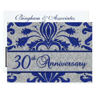 30th Anniversary Business Announcement Blue