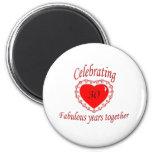 30th. Anniversary Fridge Magnets