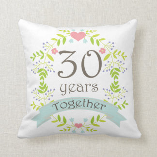 30 Years Anniversary Pillows - 30 Years Anniversary Throw Pillows ...