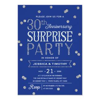 30th Anniversary Glitter Confetti Surprise Party Invitation
