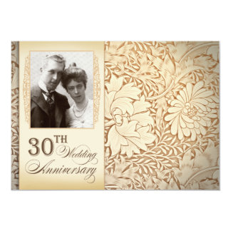 30th anniversary invitations with photo