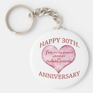 30th. Anniversary Keychain
