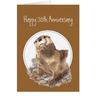 30th Anniversary Otter Be Proud, Congrats Card