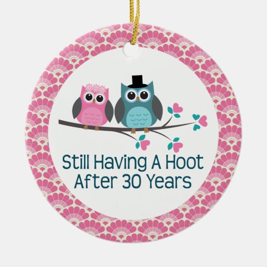 What Is 30th Wedding Anniversary Gift: 30th Anniversary Owl Wedding Anniversaries Gift Ceramic