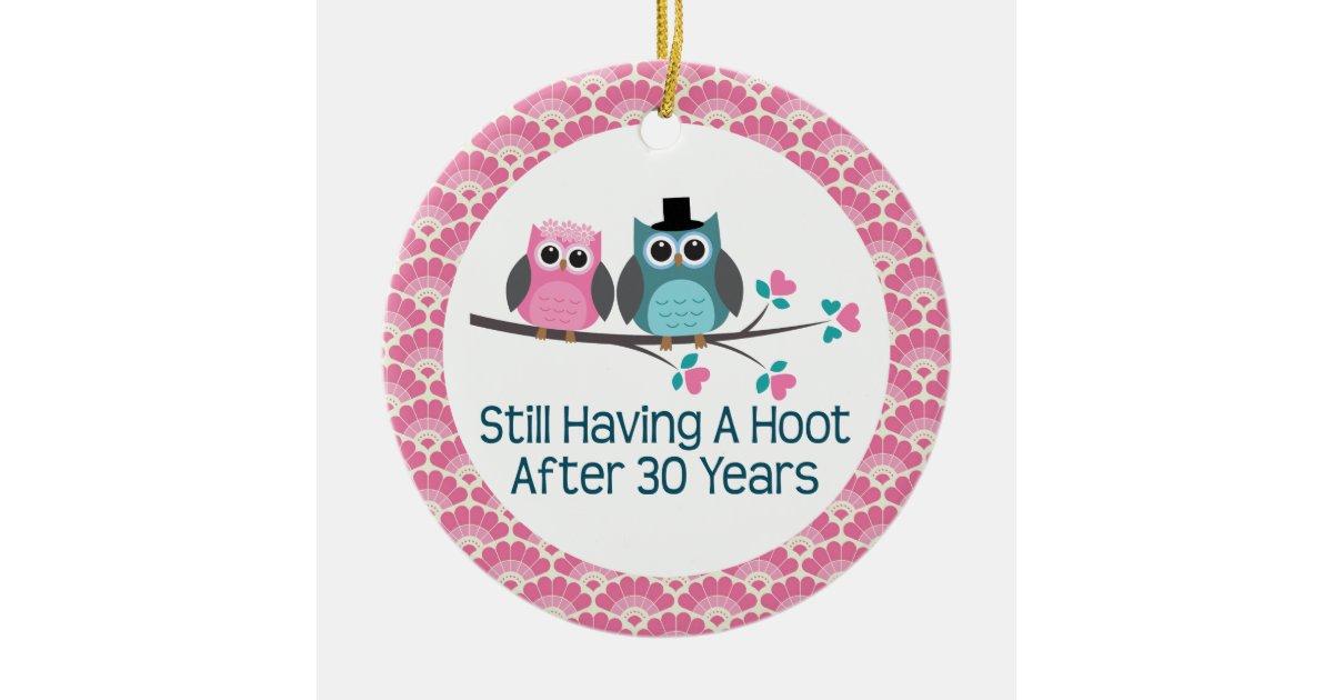 30 Years Wedding Anniversary Gift: 30th Anniversary Owl Wedding Anniversaries Gift Ceramic